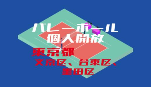 【文京区、台東区、墨田区】バレーボール個人開放【2020年度版】