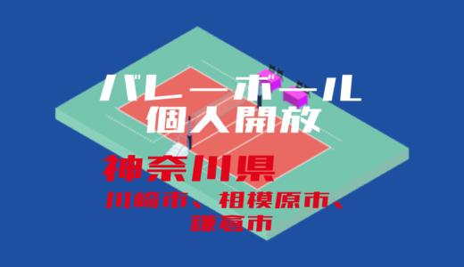 【神奈川県川崎市、相模原市、鎌倉市】バレーボール個人開放【2020年度版】
