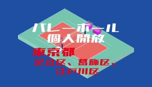 【足立区、葛飾区、江戸川区】バレーボール個人開放【2020年度版】