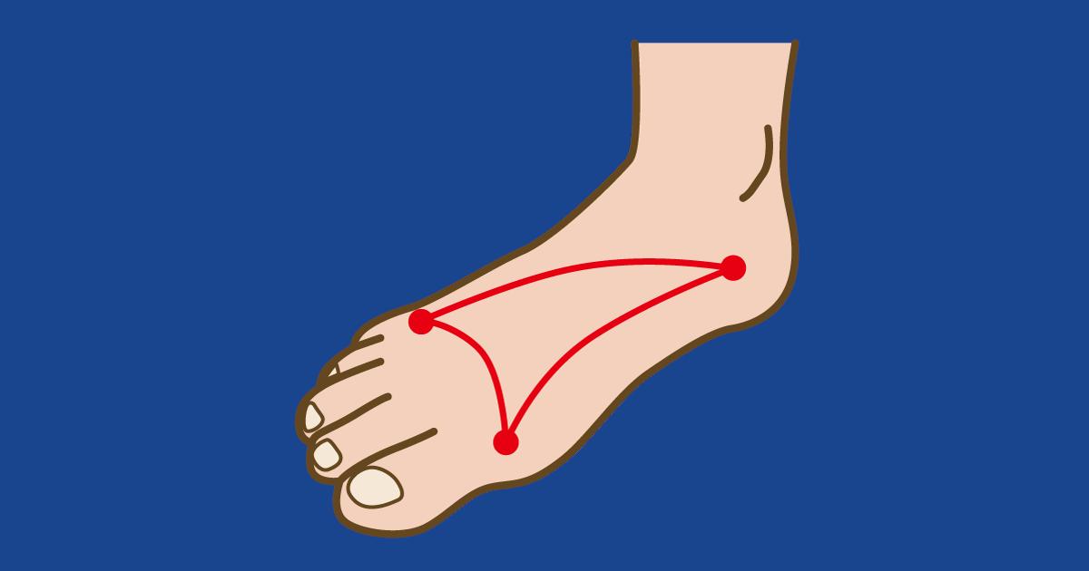 足の3点アーチ