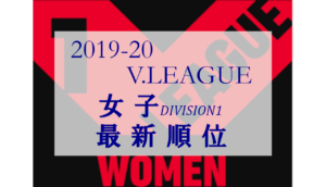 2019/20 Vリーグ(V.LEAGUE) 女子 Division1 最新順位