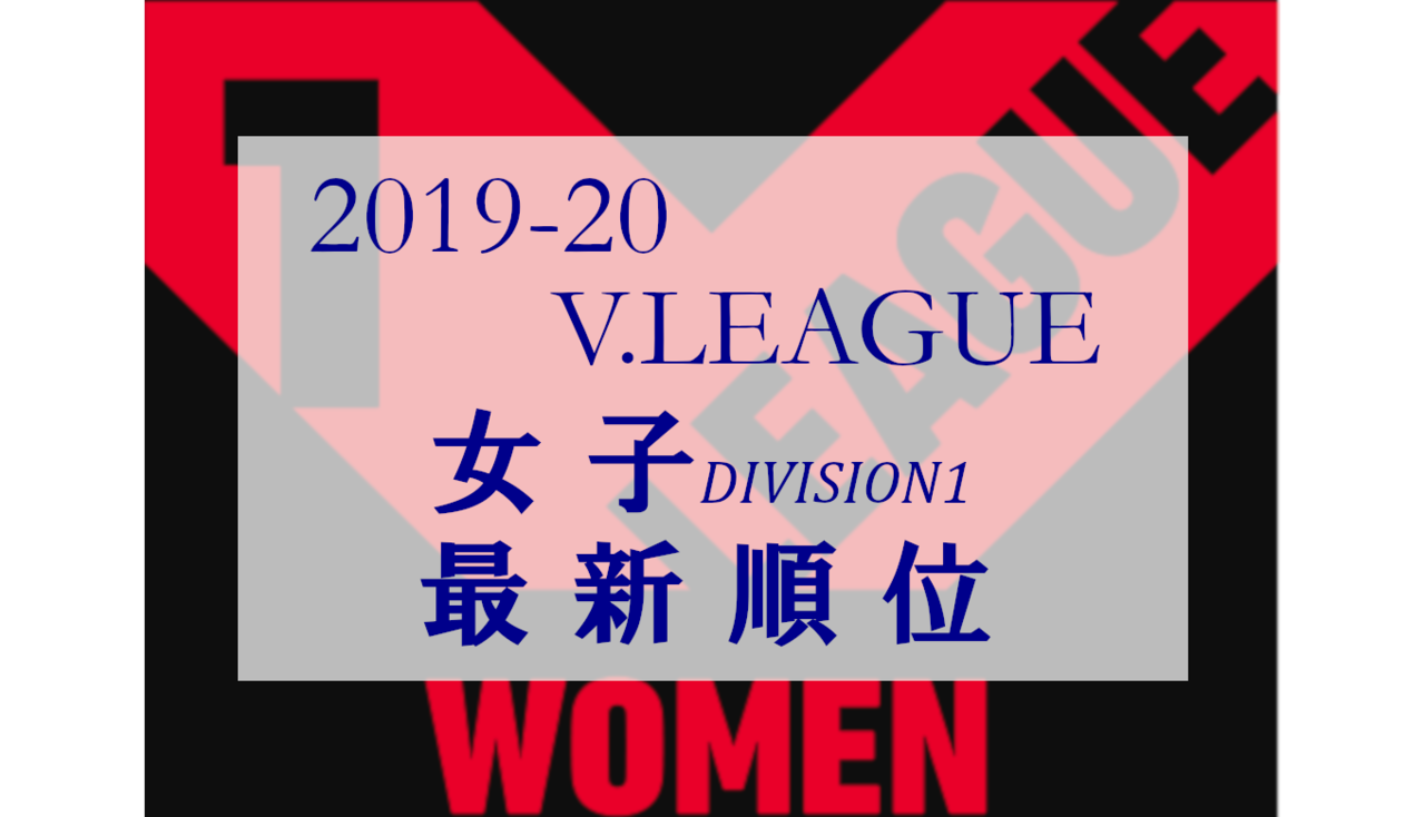 2019-20 Vリーグ女子順位