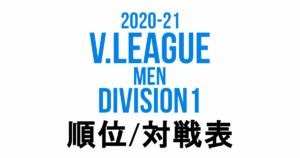 2021/21 Vリーグ(V.LEAGUE) 男子 Division1 最新順位